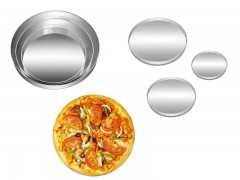 Set of 3 Round Shape Pizza Pan