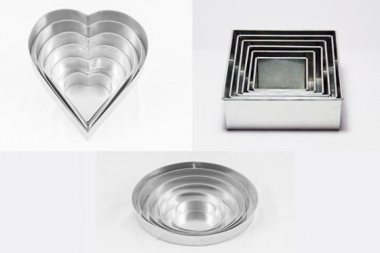6Tier  Round  Square & Heart Multilayer Wedding Anniversary Birthday Cake Tins