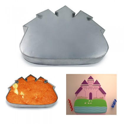 Castle Shape Cake Tin Pan for Birthday Novelty Fun Cake Mould
