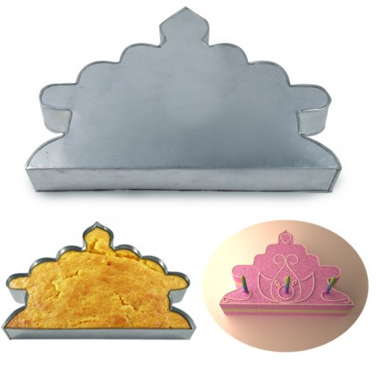Crown Shape Cake Tin Pan for Birthday Novelty Fun Cake Mould