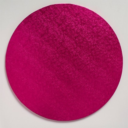 Cake Board Round Cerise drum-12'' (304mm)