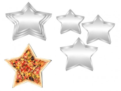 Set of 3 Star Shape Pizza Pan