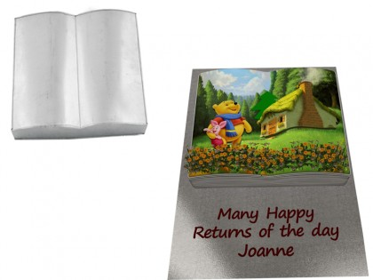 Book  Shape Novelty Cake Tin Baking Pan Birthday