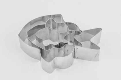 "Set of 3 Nimo Fish Cake Cookie Cutter - 1"" deep"