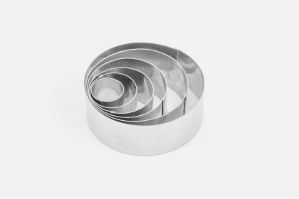 """Set of 6 Round Shape Cake Cookie Cutter - 1"""" deep"""