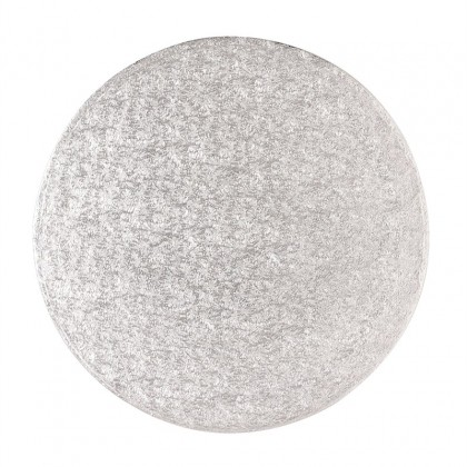 6'' (152mm) Cake Board Round Silver drum