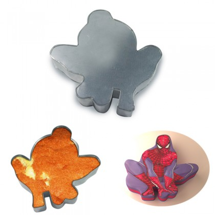 Spiderman Shape Cake Tin Pan for Birthday Novelty Fun Cake Mould