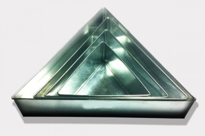 4 Tier  Triangle Wedding Birthday Cake Tins Baking Pans