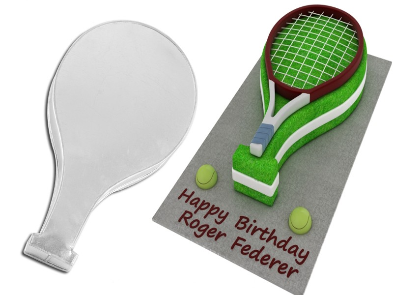 Tennis Racket Shape Novelty Cake Tin Baking Pan Birthday